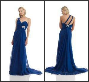 Buy Royal blue Chiffon evening Dress (PM019) at wholesale prices
