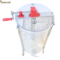 Quality 3 Frame Honey Extraction Machine Plastic Acrylic Transparent Manual Gear for sale