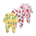 Quality Custom Pattern Print Newborn Cotton Romper , Organic Cotton Baby Clothes for sale
