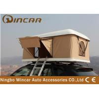 Buy cheap Hard Shell Fiberglass Vehicle Roof Tent , Car Roof Camper Tent 200D Polyester from wholesalers