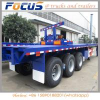 China 2 Axle 45 Feet 40FT  Carbon Steel Flatbed Container Chassis Semi Trailer with ABS Braking on sale
