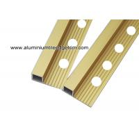 Quality High End Metal Tile Corner Trim For Ceramic Tile Edging Matt Gold 10mm for sale
