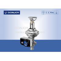Buy cheap Manual/ Intelligent  Regulating Valve with square positioner for regulating fluid from wholesalers