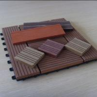 Quality Anti - skid WPC Deck Tiles For Patio , House , Building Wall Decoration for sale