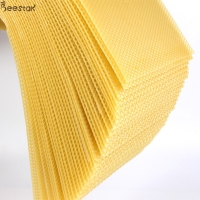 Quality 5.4mm Pure Natural Beeswax Honeycomb D Beeswax Foundation Sheet for sale