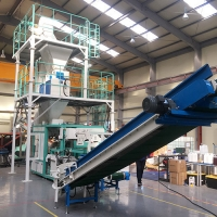 Quality Sulfate Manganese Oxide Open Mouth Bagging Machine for sale