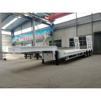 Quality Flatbed Manual Semi Trailer Trucks 4 Axles With Four Double Air Chamber for sale