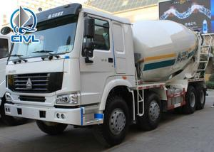 Quality 371HP 10cbm 8x4 Concrete Mixer Trucks with EURO2 Standard , Diesel Truck for sale
