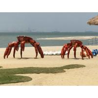 Buy cheap Art Animal Crab Metal Sculpture Painted Color Surface As Outdoor Beach from wholesalers
