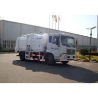Quality Kitchen Waste Collection Truck 6cbm , Sealed Discharge / Pushing Discharge for sale