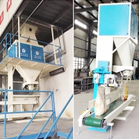 Quality Single Hopper 50kg/Bag Chicken Feed Pellet Packing Machine for sale