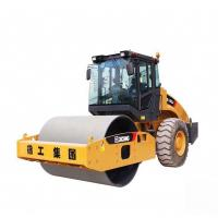 Quality 16t Earth Roller Compactor Machine / Yellow Road Maintenance Equipment for sale