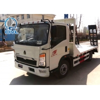 Quality New  Wrecker Tow Truck Sinotruk HOWO QL1070 Light Flatbed Truck 4x2 8 Tons engine 120hp Color option for sale
