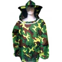 Quality Free Size Polyester Camouflage Beekeeping Jacket With Protective Bee hat for sale