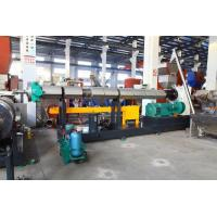 Quality SJ150 PE PP flake/crap single crew extruder water ring pelletizing line for sale