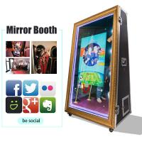 Buy cheap 65 Inch Infrared Touch Screen Photobooth Mirror 4K Selfie Magic Mirror Photo from wholesalers