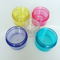 Quality Roll On Sealing 15g PET Colorful Cosmetic Cream Jars for sale