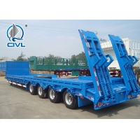 Quality 4 Axles Flatbed Manual Semi Trailer Trucks with Four Double Air Chamber for sale