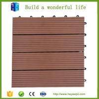 Quality HEYA wpc decking tile 30x30 interlocking outdoor composite plastic wood tile flooring for sale
