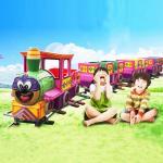 Quality Children's large track small train amusement equipment indoor small train square track small train luxury train for sale