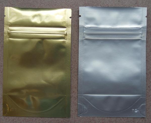 Buy Aluminum Foil Zip Lock Bag Plastic Seeds Packaging , Golden / Silver at wholesale prices