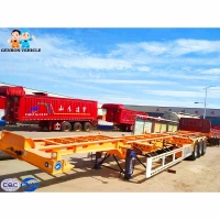 China High Strength 13T FUWA Axle 12m Cargo Shipping Flatbed Truck Trailer on sale