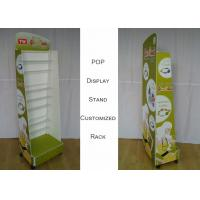 Buy cheap Customize Size Metal Wire Display Racks , Graphic Side POP Display Stand from wholesalers