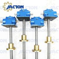 China 150 KN Mechanical Worm Gear Screw Jack Trapezoidal lifting Screw 55MM Height Adjustment on sale