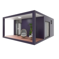 Quality 20ft 40ft Luxury Expandable Container House For Residential 2 Bedroom 1 Bathroom for sale