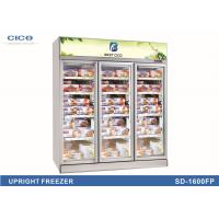 Quality Three Glass Door Upright Display Cooler For Ice Cream OEM Service for sale