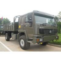 Quality SINOTRUK HOWO 4x4 All Terrain Heavy Duty Cargo Truck / Off Road Military Truck for sale