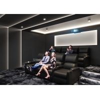 Quality Theater Movie Projector Home Cinema System With 7.1 Speakers / Reclining Chairs for sale