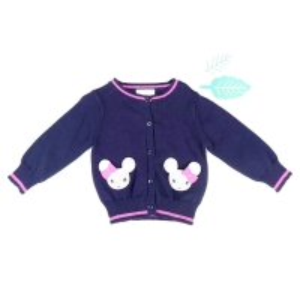 China 9GG cotton pocket cardigan kids bunny sweater on sale