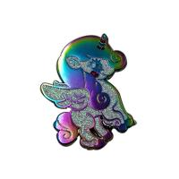 Buy cheap Custom Rainbow Plating Soft Enamel Metal Lapel Pin Badge With Glitter from wholesalers