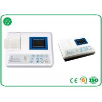 Buy cheap 3.5 Inch Colour Lcd 3 Channel Portable 12 Lead Ecg Machine 100 Patient Save from wholesalers