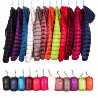 Buy cheap Multi Color Womens Down Puffer Coat , Lightweight Puffer Jacket Zipper Front from wholesalers