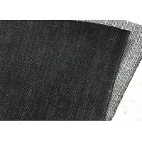 Quality Instock Herringbone Tweed Upholstery Fabric , Dark Blue Denim Fabric By The Yard for sale
