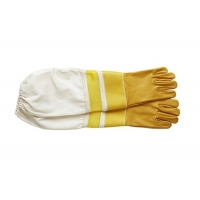 Quality #24,  Goat skin bee glove + leather wrist protector + Half  Ventilated +canvas cuff for sale