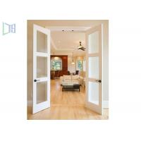 Quality Double Glazing Frosted Glass Aluminium Hinged Interior Swing Doors for Washroom for sale