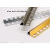 Buy cheap Aluminium Decorative Bullnose Ceramic Tile Edge / Edging Trim For Tile Walls from wholesalers