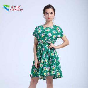 Quality Cotton Short Sleeve Short Summer Dresses for sale