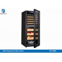 Quality 380L Compressor Wine Cooler Modern Wooden Box Refrigerated Cabinet Cigar Humidor for sale