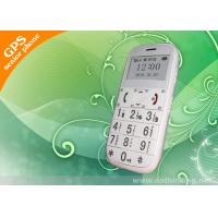 Quality 1.7 White Screen Long Standby Mobile Phone Elderly GPS Tracker With 20 GPS Channel for sale
