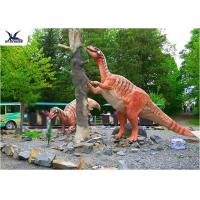 Quality Amusement Park Decoration Realistic Dinosaur Statues Artificial Mother And Baby Models for sale