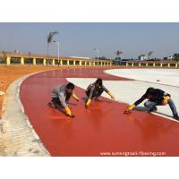 Quality Synthetic PU Running Track Flooring Runway For Sports Field Aging Resistance for sale