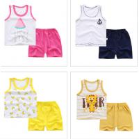 Quality Sleeveless Cute Baby Boy Summer Clothes Random Combination Multiple Patterns for sale