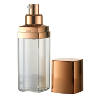 Quality Square 15ml 30ml 50ml AS Cap Airless Pump Bottles for sale