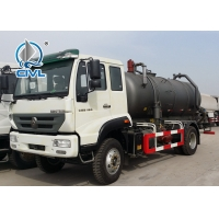 Quality HOWO 6 Disposal Sewage Suction Truck Wheeler 8000L For Construction Sucking and Draining Sewage for sale
