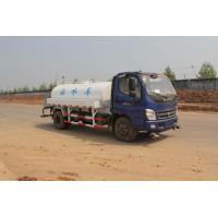 Quality Sinotruck 4x2 light serial Water Tanker Truck 4.5M3 CUMMINS ENGINE Steering Wheel,blue color for sale