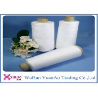 Quality Ring Spun 100% Polyester Raw White Yarn 50/2 Raw white Coat Sewing Thread for sale